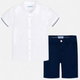 Mayoral 3247-54 Komplet chłopięcy bermudy i koszula Granat