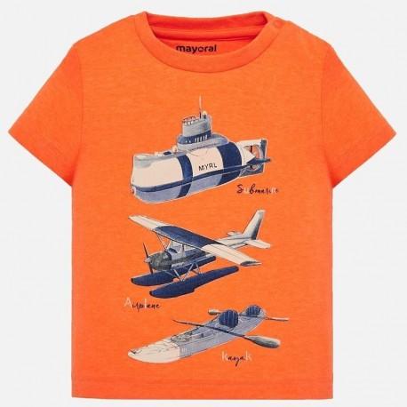 Mayoral 1029-12 Koszulka k/r dla chłopca Pomarańcz