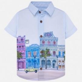 Mayoral 1128-63 Koszula k/r chłopięca Błękitna
