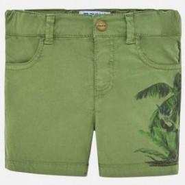 Mayoral 1248-50 Bermudy chłopięce z nadrukiem zielone