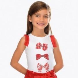Mayoral 3021-90 Koszulka dziewczęca na ramiączkach czerwona