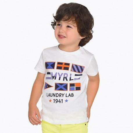 Mayoral 3031-37 Koszulka k/r chłopięca Biała