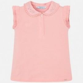 Mayoral 3101-40 Koszulka polo dziewczęca Różowa