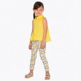 Mayoral 3507-80 Spodnie długie dziewczęce Żółty