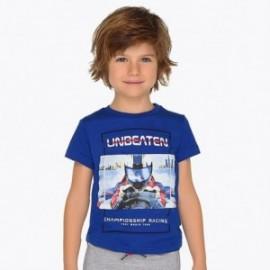 Mayoral 3607-989 Komplet 2 koszulki i bermudy chłopięce Niebieski