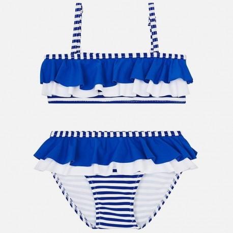 Mayoral 3711-44 Bikini w paski dla dziecięce Niebieskie