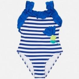 Mayoral 3715-85 Kostium kąpielowy w paski dziewczęcy Niebieski