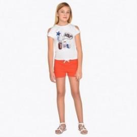 Mayoral 6215-53 Komplet bluzka i szorty dziewczęcy Pomarańcz
