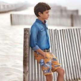 Mayoral 6230-74 Bermudy z paskiem dla chłopca Karmel