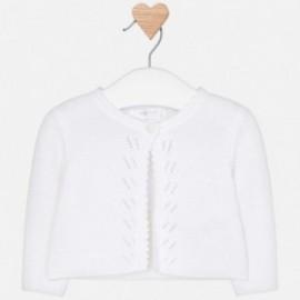Mayoral 325-30 Sweter rozpinany dziewczęcy Biały