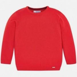 Mayoral 311-21 Sweter z lamówką chłopięcy Czerwony