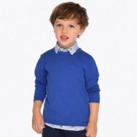 Mayoral 311-20 Sweter z lamówką dla chłopca Morski