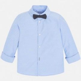 Mayoral 3139-64 Koszula d/r z muszką dziecięca Błękitny