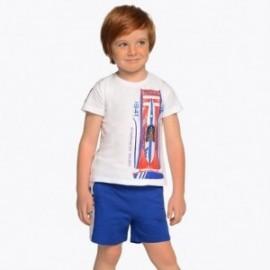 Mayoral 3608-95 Komplet koszulka i bermudy chłopięcy Niebieski