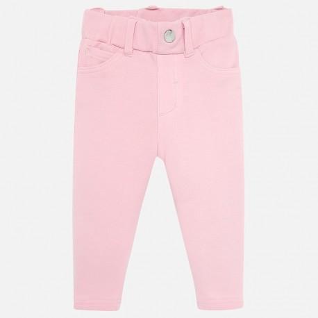 Spodnie z ciepłej bawełny dla dziewczynki Mayoral 560-39 Różowy