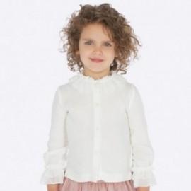 Bluzka z kołnierzykiem elegancka dla dziewczynki Mayoral 4101-44 Kremowy