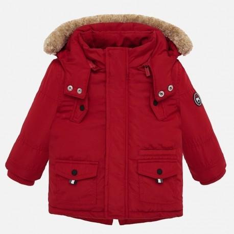 Parka kurtka zimowa z kapturem dla chłopca Mayoral 2450-48 Czerwony