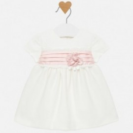 Sukienka bawełna z tiulem dziewczęca Mayoral 2816-63 Kremowy