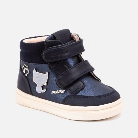 Buty przejściowe na rzepy trzewiki dla dziewczynki Mayoral 42040-85 Granatowy