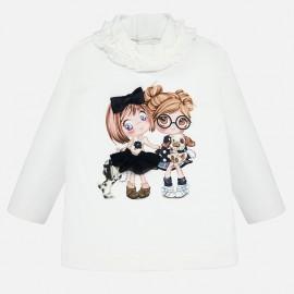 Koszulka z długim rękawem dla dziewczynki Mayoral 2006-96 krem