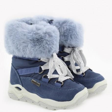 Kozaki zimowe dla dziewczynki IMAC 434098- 7026-32-S granat