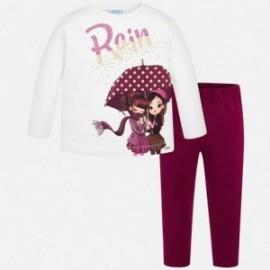 Komplet bluzka z leginsami dla dziewczynki Mayoral 4708-81 Rubin
