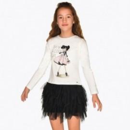 Sukienka codzienna z tiulową spódnicą dziewczęca Mayoral 7926-16 Czarny