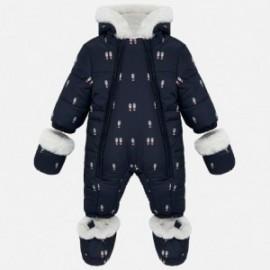 Kombinezon zimowy z rękawiczkami dla dziewczynki i chłopca Mayoral 2603-15 Granat
