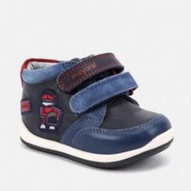 Buty ze skóry przejściowe na rzepy dla chłopaka Mayoral 42048-57 Niebieski