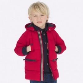 Kurtka zimowa długa z kapturem chłopięca Mayoral 4446-81 Czerwony