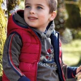 Bluza kangurka sportowa z nadrukiem dla chłopca Mayoral 4428-42 Pardo