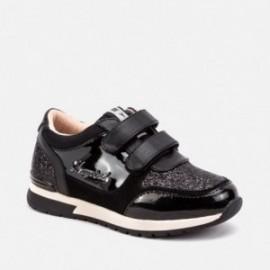 Buty running sneakersy na rzepy dla dziewczynki Mayoral 44057-43 Czarny