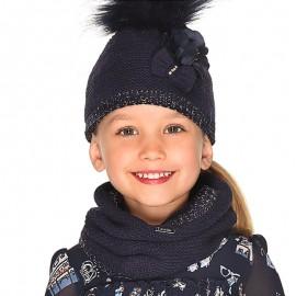 Komplet czapka komin rękawiczki dla dziewczynki Mayoral 10699-27 granat