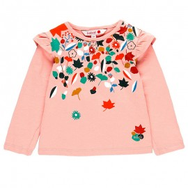 Dzianinowa koszulka dla dziewczynki Boboli 208011-3648 róż