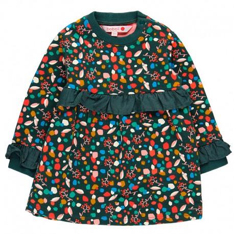 Sukienka bawełniana dla dziewczynki Boboli 208033-9179 kolorowa