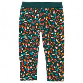 Elastyczne spodnie bawełniane dla dziewczynki Boboli 208066-9179 kolorowe