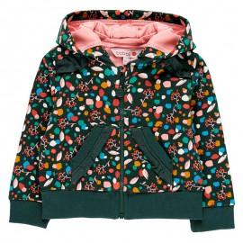 Bluza dla dziewczynki z odpinanym kapturem Boboli 208145-9179 kolorowa