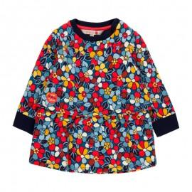 Bawełniana sukienka w kwiaty dla dziewczynki Boboli 218045-9175 kolorowa