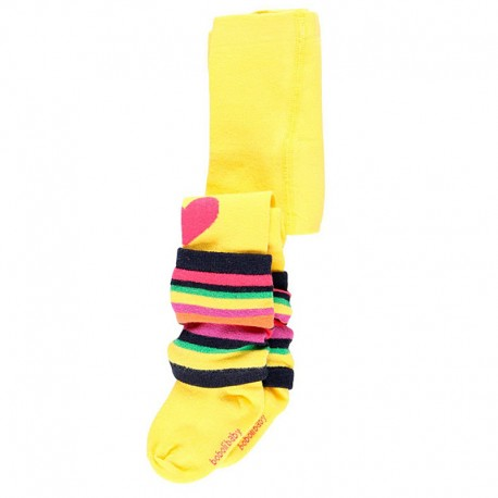 Grube rajstopy dla dziewczynki Boboli 238081-4473 żółty
