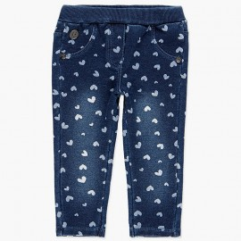 Spodnie dresowe bawełniane dla dziewczynki Boboli 238115-9201 niebieski