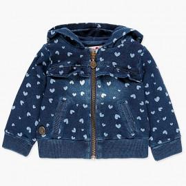 Denimowa bluza bawełniana dla dziewczynki Boboli 238137-9201 niebieski