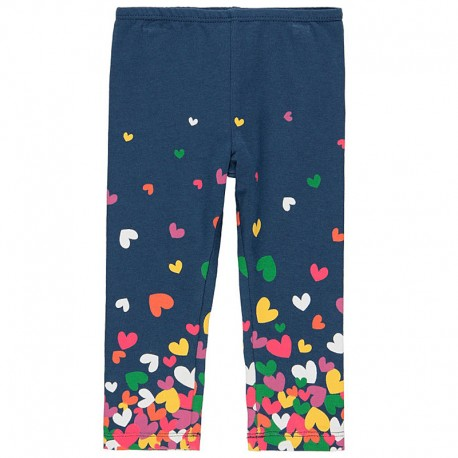 Elastyczne legginsy z bawełny dla dziewczynki Boboli 238193-2447 granat