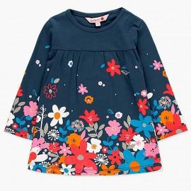 Bawełniana sukienka dla dziewczynki Boboli 248060-2447 granat