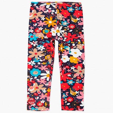 Elastyczne legginsy bawełniane dla dziewczynki Boboli 248082-9204 kolorowe