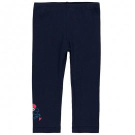 Elastyczne legginsy z bawełny dla dziewczynki Boboli 298032-2440 granat