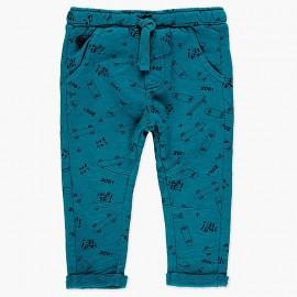 Spodnie dresowe bawełniane dla chłopca Boboli 318091-9171 niebieski