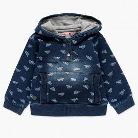 Bawełniana bluza z kapturem dla chłopca Boboli 338060-9173 granat