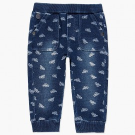 Spodnie dresowe bawełniane dla chłopca Boboli 338082-9173 granat