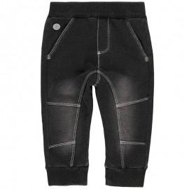 Spodnie dresowe bawełniane dla chłopca Boboli 398033-BLACK czarny