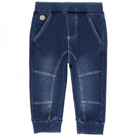 Spodnie dresowe bawełniane dla chłopca Boboli 398033-BLUE niebieski